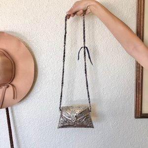 Zara Metallic Boho Tiny Purse
